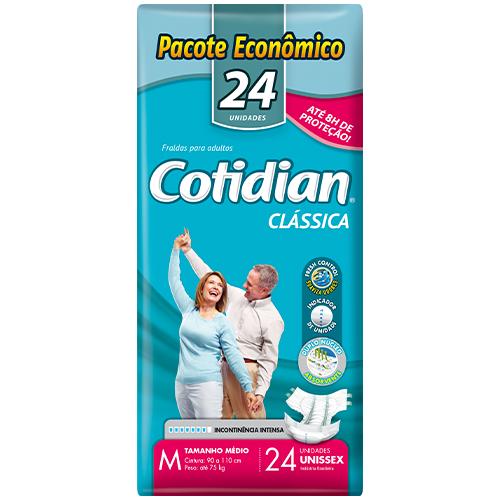 Fralda Clássica COTIDIAN M Pacote Econômico