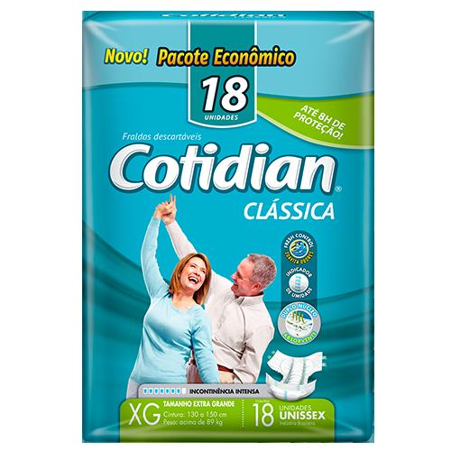 Fralda Clássica COTIDIAN XG Pacote Econômico