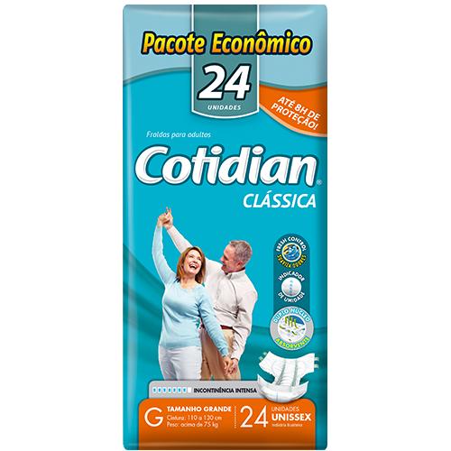 Fralda Clássica COTIDIAN G Pacote Econômico