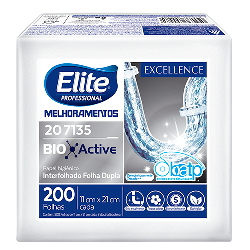 PAPEL HIGIÊNICO INTERFOLHADO EXCELLENCE BIO ACTIVE